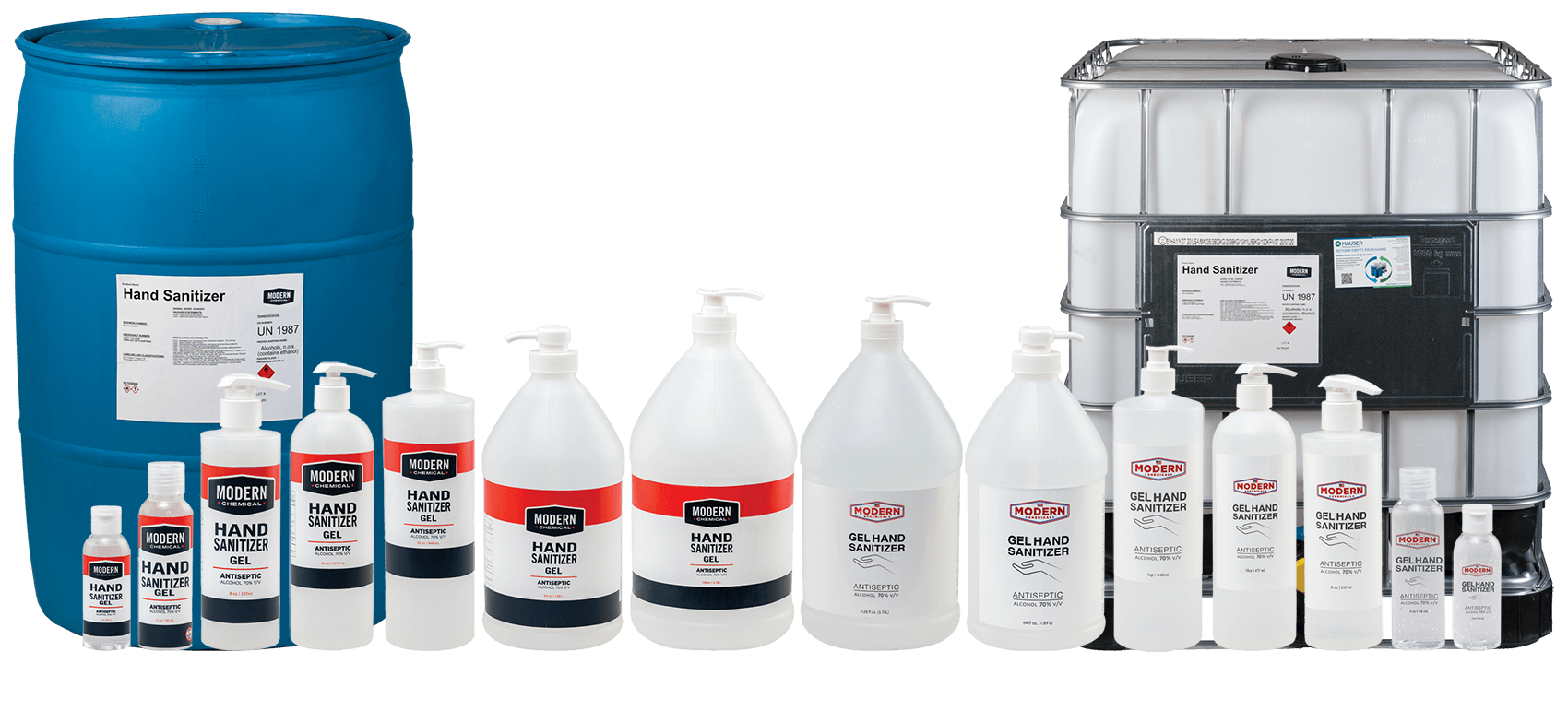 A small selection of Modern Chemical products